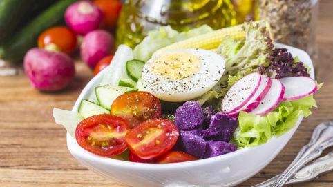 рецепты диетических салатов, для худеющих