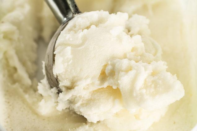 рецепт мороженого, банановое мороженое, творожное мороженое