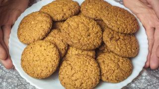 фитнес печение, рецепт овсяного печенья