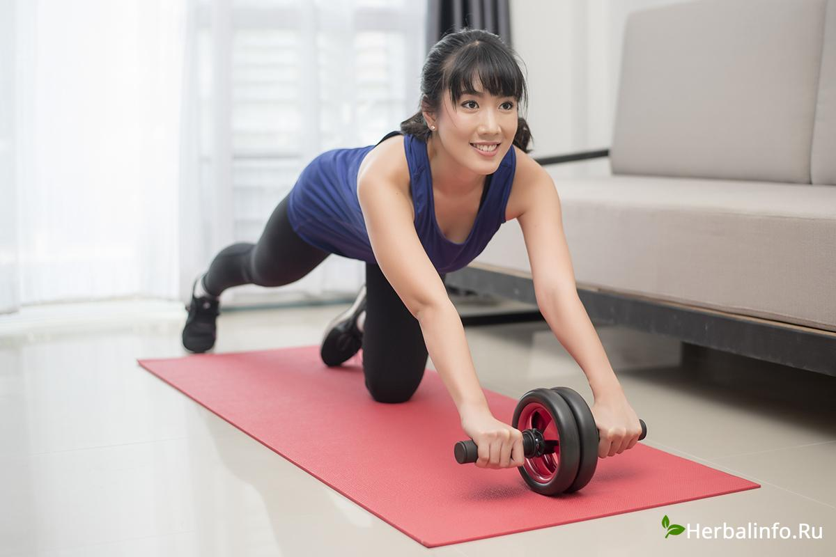 фитнес дома, спортивная фигура, мотивация