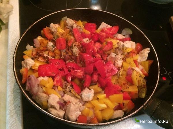овощной пирог с куриным белым мясом