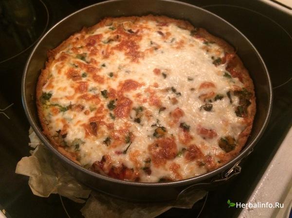 пп-рецепт пирог с овощами и куриным мясом