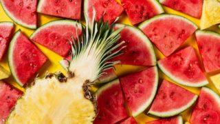 фрукты для детоксикации, салат