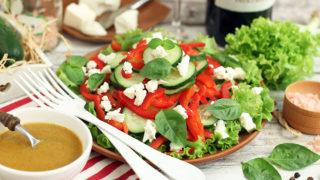 салат пп с сыром фета