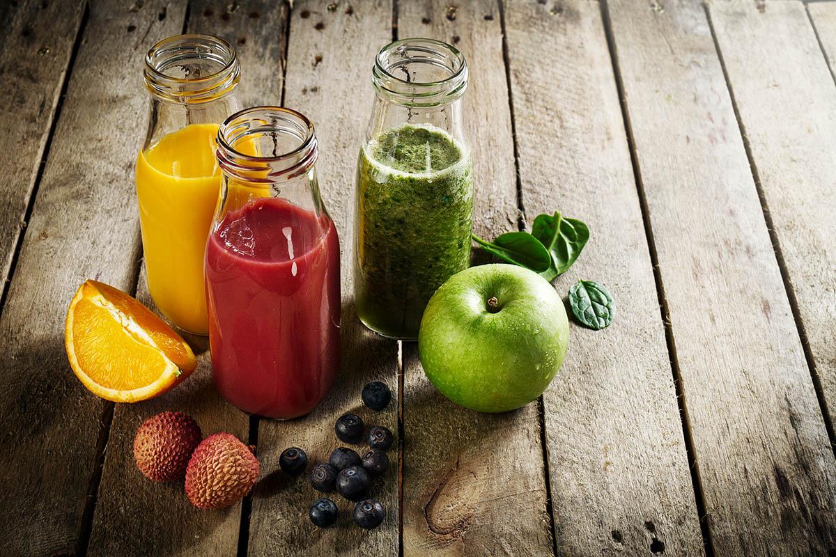 фруктовое смузи, овощные смузи