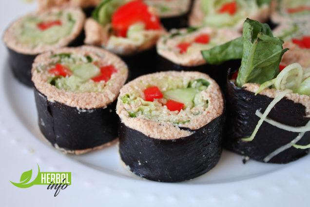роллы вегетарианские рецепты с продуктами гербалайф нп
