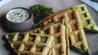 Рецепт вафель со шпинатом от Гербалайф